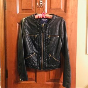 American Eagle Vegan Leather Jacket